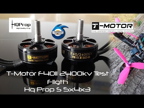T-Motor F40 II 2400kv Hq Props S5x4x3