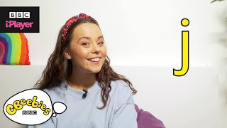 "Learn letter ""j"" with Evie and Dodge 