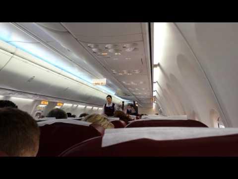 Boeing 737-800 UTair Reg: № VQ-BQQ аварийный экстуктаж руление Аэропорт Краснодар.