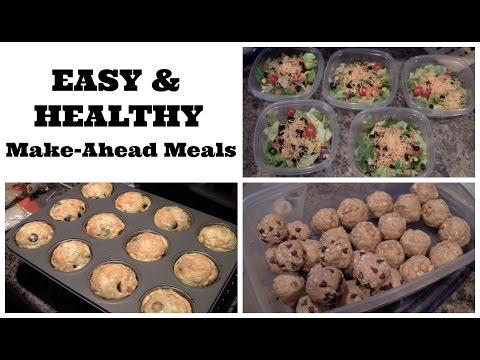 3 Easy Make-Ahead Meals & Snacks!