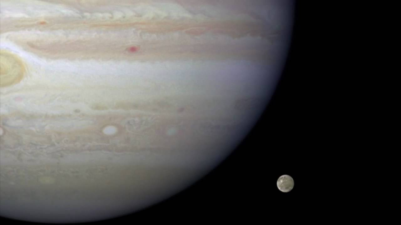 Hubble Movie Of Jupiter And Ganymede [720p]