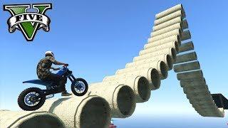 GTA V Online: NOVO TRIALS de MOTO NOS CANOS!!! V2