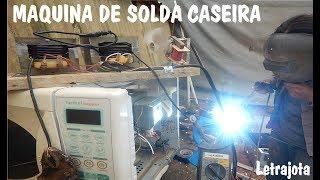 Maquina de solda caseira com transformador de micro ondas