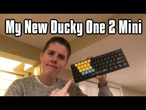 My New Keyboard! - Ducky One 2 Mini W/ Tai-Hao Rubber Keycaps