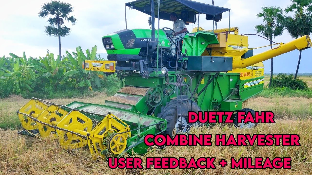 Deutz fahr agrolux 55 combine harvester | User feedback + mileage + performance | Agriculture India