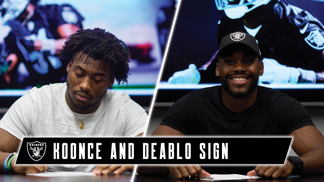Raiders Ink Koonce and Deablo, Complete Rookie Signings | Las Vegas Raiders