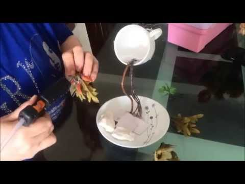 Taza cascada de flores youtube for Decoracion con tazas de cafe
