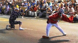 阿波踊り2016 8/12初日 新町橋での双六(すごろく)連の演舞 凧と引き手の絶妙なやり取りが最高.
