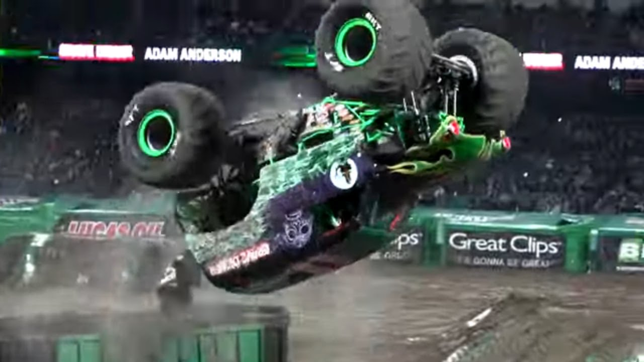 Grave Digger Adam Anderson Winning Freestyle Monster Jam Anaheim 2019 Youtube
