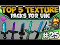 TOP 5 UHC Default / Faithful Edit's | Minecraft PvP Texture / Resource Packs [1.7.10/1.8.9/1.9]