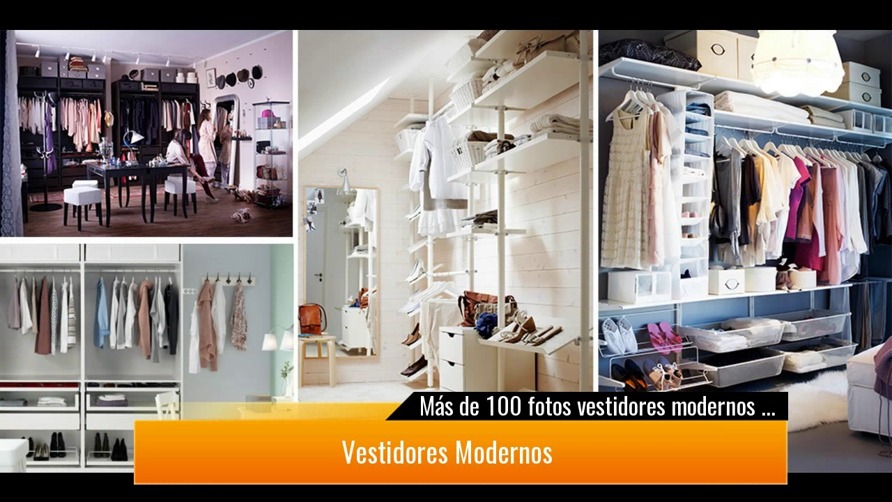 M s de 100 fotos vestidores modernos y peque os youtube for Working closet modernos