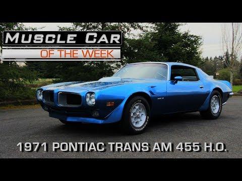 1971 Pontiac Firebird Trans Am Muscle Car Of The Week Video Episode 220 V8TV
