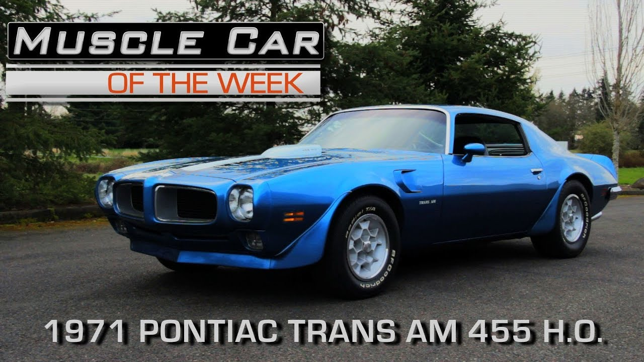 1971 pontiac firebird trans am muscle car of the week