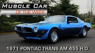 1971 Pontiac Firebird Trans Am Muscle Car Of The Week Video Episode 220 V8TV