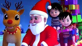 Jingle колокольчики | Санта-Клаус песня | Рождественские рифмы для детей | Xmas песни | Jingle Bells