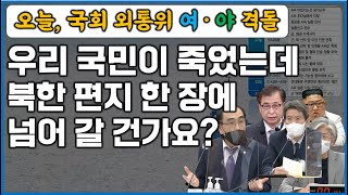 "l국회 외통위 긴급회의l ""제가 서울 한 복판…"