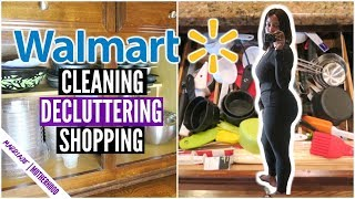 Cleaning routine 🏠Declutter with me 🛍️Walmart Try on Haul 😲 SUNDAY SETUP