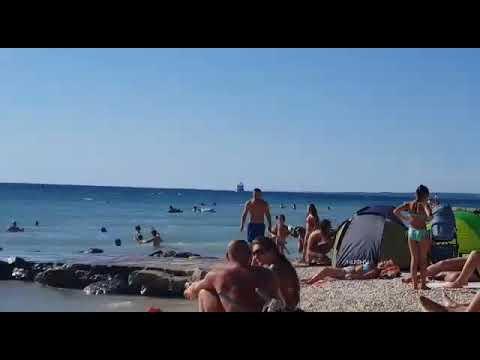 Strand Fazana Fazana Kroatien San Lorenzo 2017 August Youtube