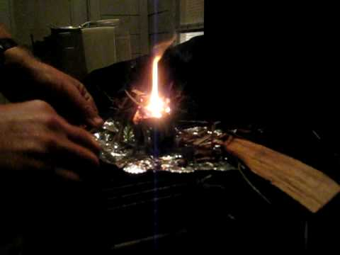 Calcium Carbide Survival Fire