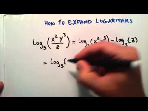 How to Expand a Logarithm : Logarithms , Lesson 10