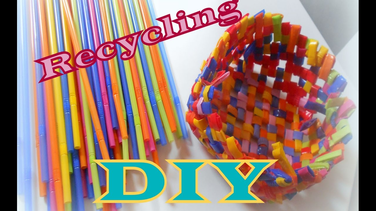How To Make Drinking Straw Basket