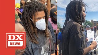 J.Cole Is Out In The Front Lines Joining George Floyd Protestors In Fayetteville, NC