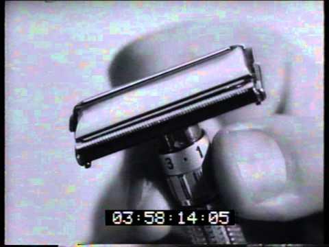 Gillette adjustable razor 1961 TV commercial