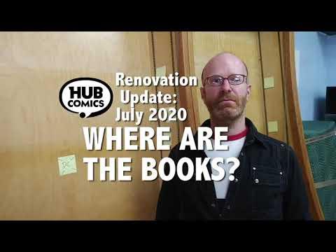 """Hub Comics - Ad - 2020-07-14 """"Where Are The Books?"""""""