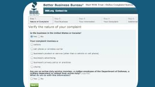 How to file a complaint with BBB