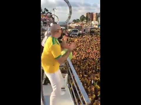 Pitbull and Claudia Leitte Performing Carnaval BlowOut in Salvador, Brazil 2018