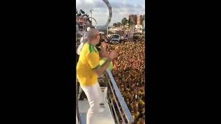 Pitbull and Claudia Leitte Performing Carnaval Blow-Out in Salvador, Brazil 2018