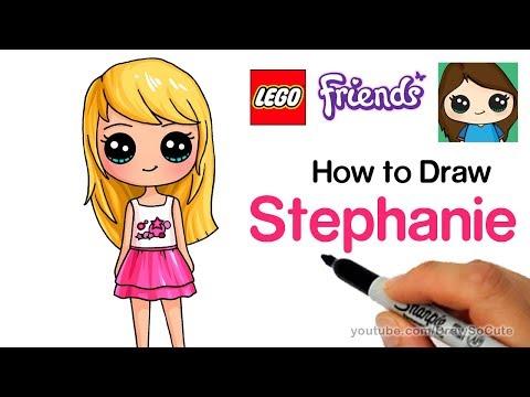 How to Draw Lego Friends Stephanie