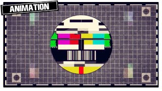 Tv broadcasting test pattern || instant secure download perfect for online content creators free creative animations that's non copyright, to use in yo...