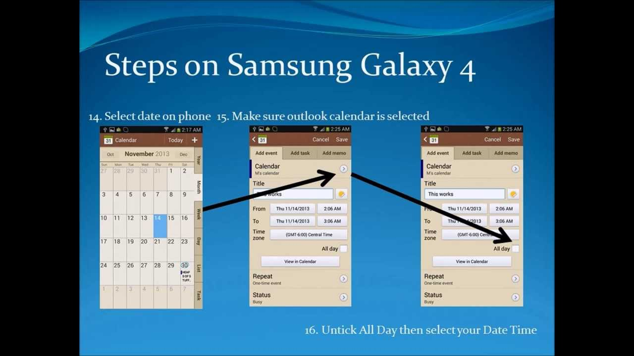 how to delete all samsung calender