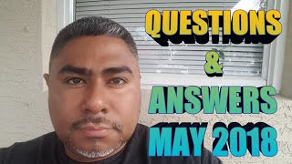 Question & Answers - May 2018