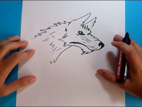 Como dibujar un lobo paso a paso 4 | How to draw a wolf 4 - YouTube