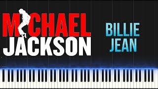 Michael Jackson - Billie Jean (Piano Tutorial Synthesia)