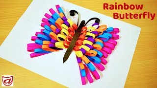 Rainbow Butterfly | How to make paper butterflies | Cute and Easy DIY craft for Kids
