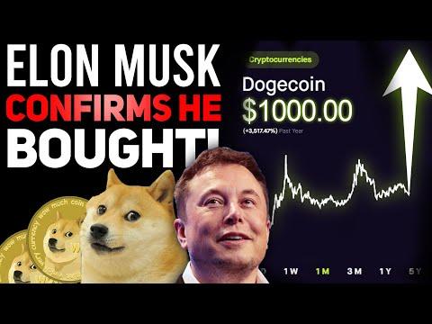ELON MUSK CONFIRMS BILLION DOLLAR DOGECOIN BUY! (HUGE NEWS FOR DOGECOIN HOLDERS!)