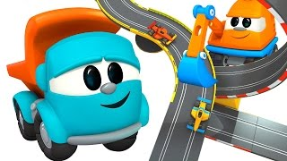 Pequeño Leo - Pista de Carreras - Coches de carreras para niños - Carritos para niños