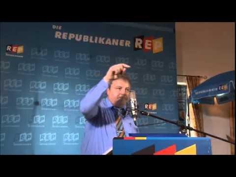 Martin Huber auf dem politschen Aschermittwoch der Republikaner in Taufkirchen