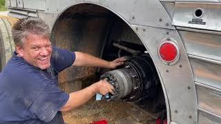 Right rear hub inspection on a silversides bus