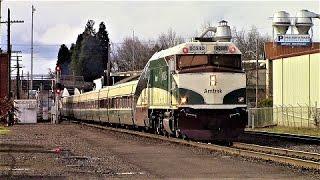 Amtrak Cascades Oregon City to Eugene Round Trip (2-8-17)