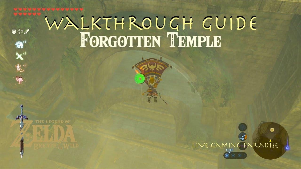 Breath Of The Wild Forgotten Temple Rona Kachta Shrine Guide