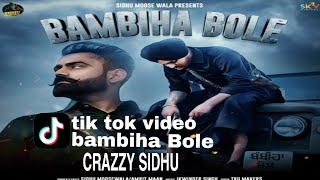 bambiha Bole tik tok video | Punjabi tik tok video| crazzy sidhu| I❤U tik tok .