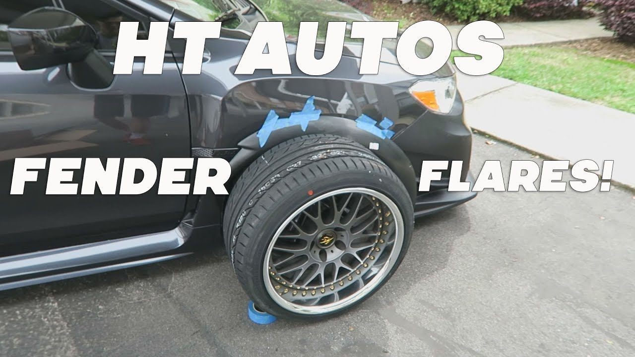 2015 Subaru WRX First Look HT Autos Fender Flares - YouTube