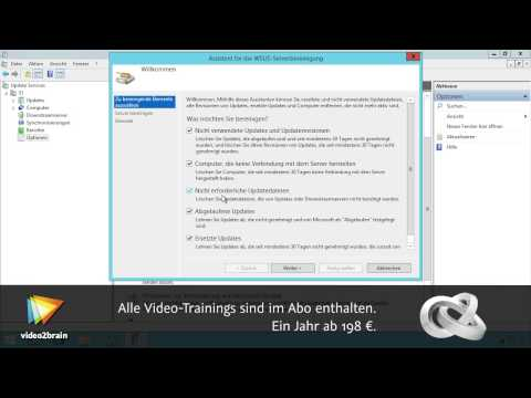 Windows Server Update Services (WSUS) Tutorial: WSUS-Server bereinigen |video2brain.com