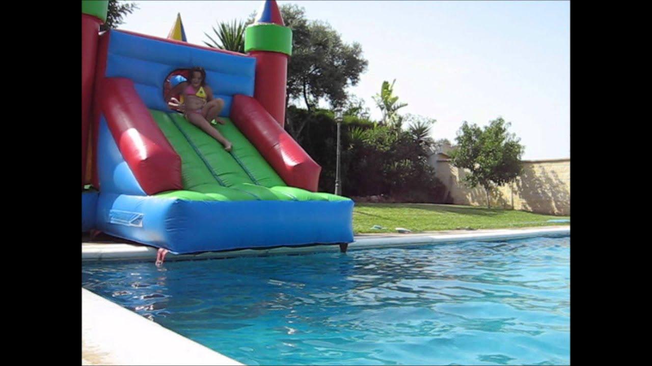 Castillos hinchables de agua youtube - Hinchables de agua para piscinas ...