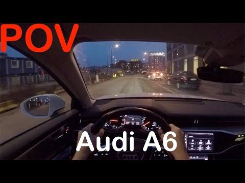 POV Audi A6 Sedan Autumn Evening Drive + Quick Review - PointOfViewCars