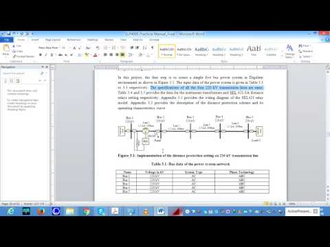 Distance protection setting using SEL 421 relay model